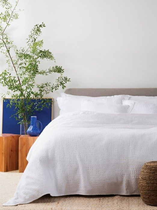 Honeycomb Washed Coverlet